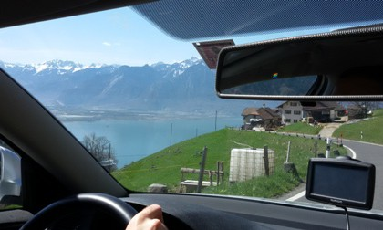 Driving down to Montreux